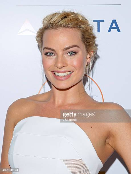 Margot Robbie attends the 3rd Annual Australians in Film Awards Benefit Gala at the Fairmont Miramar Hotel on October 26 2014 in Santa Monica...