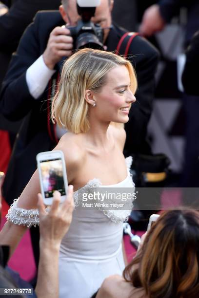 Margot Robbie attends the 90th Annual Academy Awards at Hollywood Highland Center on March 4 2018 in Hollywood California