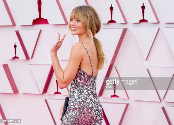 Margot Robbie attends the 93rd Annual Academy Awards at Union Station on April 25, 2021 in Los Angeles, California.