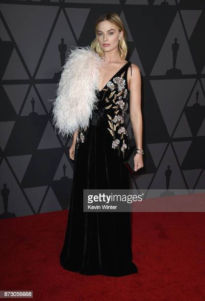 Margot Robbie attends the Academy of Motion Picture Arts and Sciences' 9th Annual Governors Awards at The Ray Dolby Ballroom at Hollywood Highland...