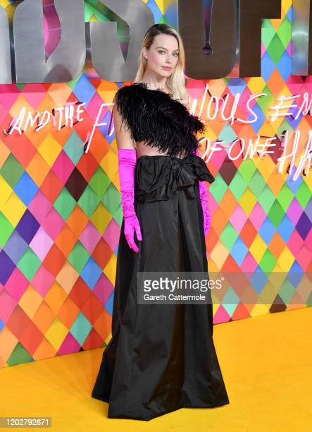 Margot Robbie attends the Birds of Prey And the Fantabulous Emancipation Of One Harley Quinn World Premiere at the BFI IMAX on January 29 2020 in...
