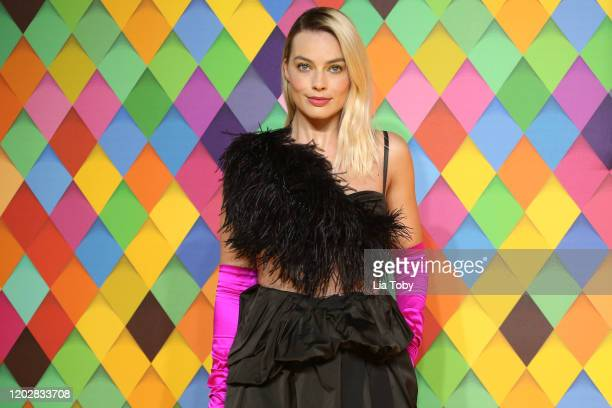 """Margot Robbie attends the """"Birds of Prey: And the Fantabulous Emancipation Of One Harley Quinn"""" World Premiere at the BFI IMAX on January 29, 2020 in..."""