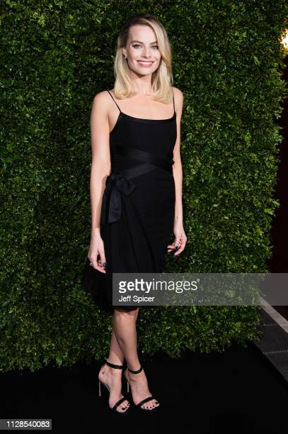 Margot Robbie attends the Charles Finch Chanel preBAFTA's dinner at Loulou's on February 09 2019 in London England