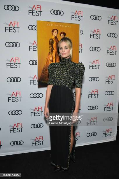 Margot Robbie attends the closing night world premiere gala screening of 'Mary Queen Of Scots' during AFI FEST 2018 presented by Audi at TCL Chinese...