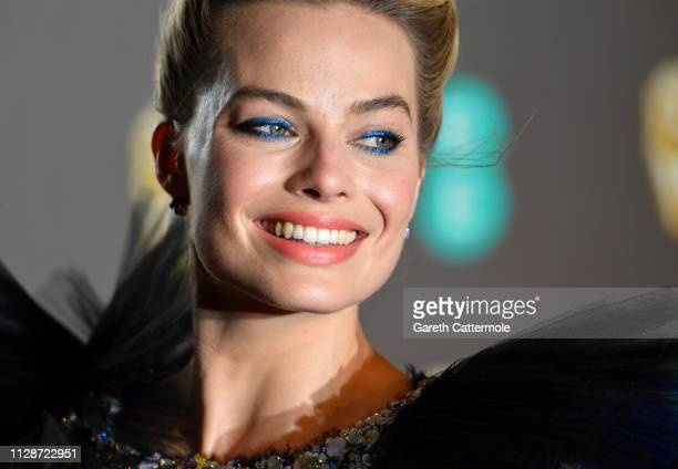 Margot Robbie attends the EE British Academy Film Awards at Royal Albert Hall on February 10, 2019 in London, England.