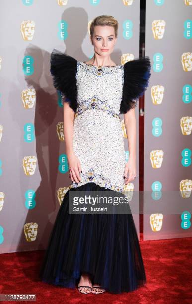 Margot Robbie attends the EE British Academy Film Awards at Royal Albert Hall on February 10 2019 in London England