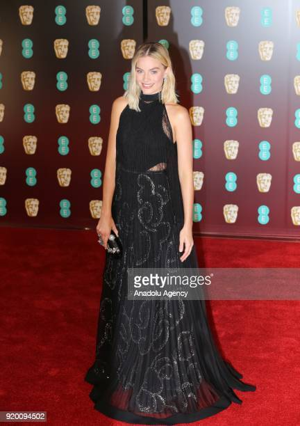 Margot Robbie attends the EE British Academy Film Awards at the Royal Albert Hall on February 18 2018 in London England