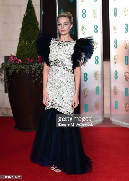 Margot Robbie attends the EE British Academy Film Awards Gala Dinner at Grosvenor House on February 10, 2019 in London, England.