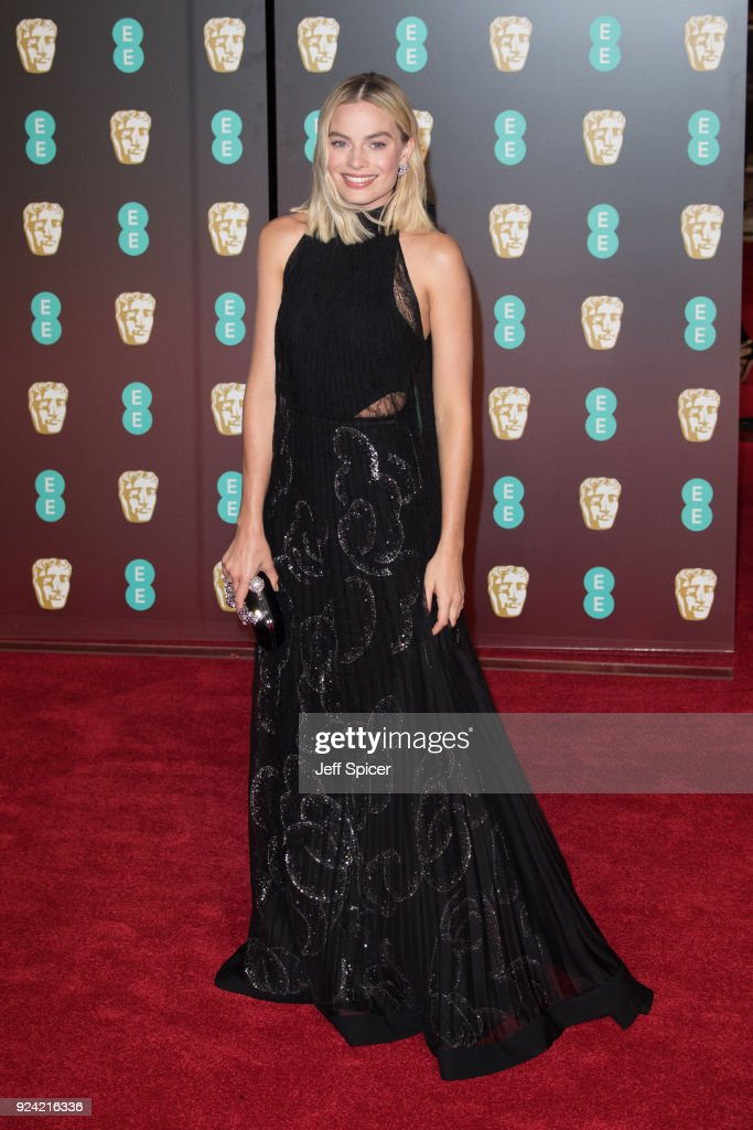 Margot Robbie attends the EE British Academy Film Awards (BAFTA) held at Royal Albert Hall on February 18, 2018 in London, England.