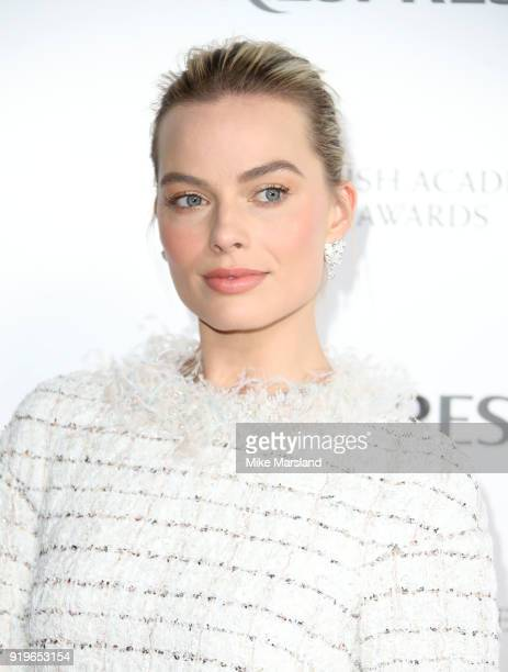 Margot Robbie attends the EE British Academy Film Awards nominees party at Kensington Palace on February 17 2018 in London England