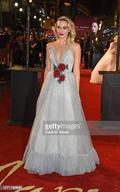 """Margot Robbie attends the European Premiere of """"Mary Queen Of Scots"""" at Cineworld Leicester Square on December 10, 2018 in London, England."""