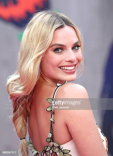 "Margot Robbie attends the European Premiere of ""Suicide Squad"" at the Odeon Leicester Square on August 3, 2016 in London, England."