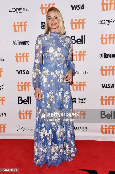 Margot Robbie attends the 'I Tonya' premiere during the 2017 Toronto International Film Festival at Princess of Wales Theatre on September 8 2017 in...