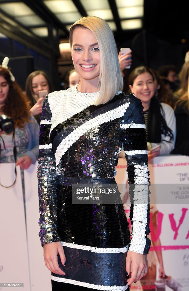Margot Robbie attends the 'I, Tonya' UK premiere held at The Curzon Mayfair on February 15, 2018 in London, England.
