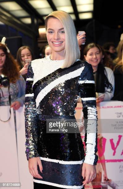 Margot Robbie attends the 'I Tonya' UK premiere held at The Curzon Mayfair on February 15 2018 in London England