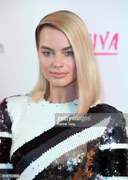 Margot Robbie attends the 'I Tonya' UK premiere held at The Washington Mayfair on February 15 2018 in London England