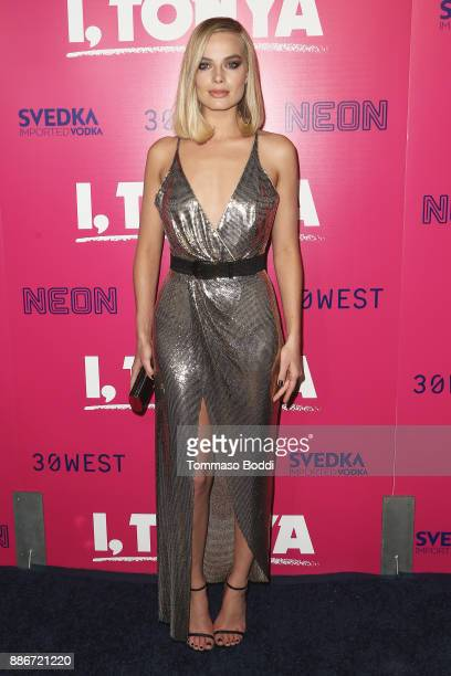 Margot Robbie attends the Los Angeles Premiere of I Tonya at the Egyptian Theatre on December 5 2017 in Hollywood California