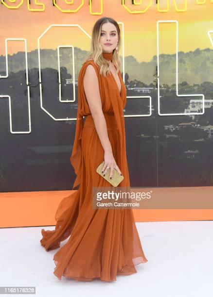Margot Robbie attends the Once Upon a Time in Hollywood UK Premiere at the Odeon Luxe Leicester Square on July 30 2019 in London England