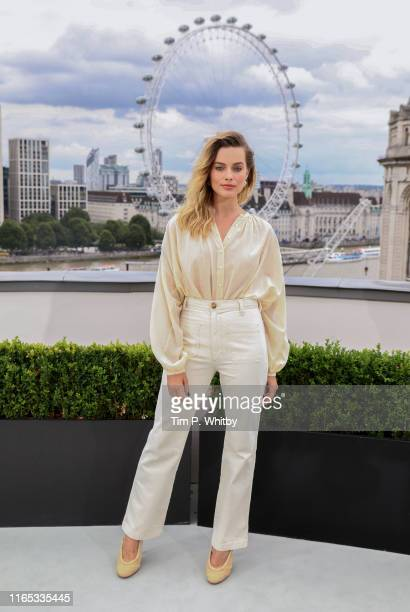 Margot Robbie attends the Once Upon A Time…In Hollywood Photocall in London at The Corinthia Hotel on July 31 2019 in London England