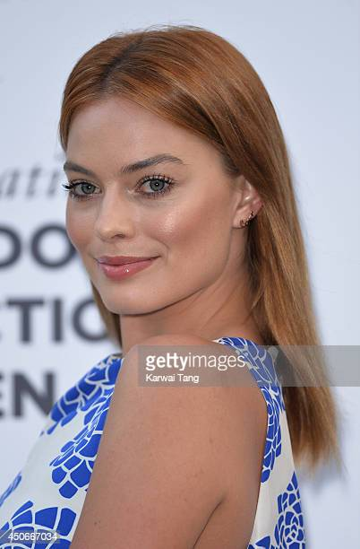 Margot Robbie attends the One For The Boys charity ball during the London Collections Men SS15 on June 15 2014 in London England