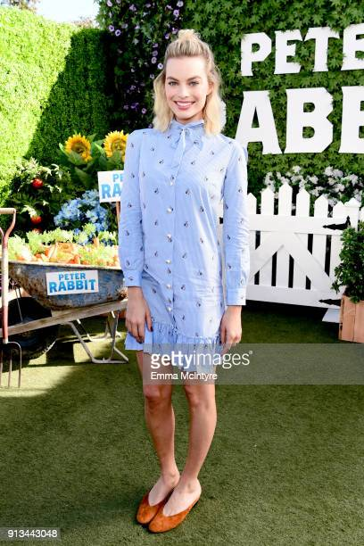 Margot Robbie attends the photo call for Columbia Pictures' 'Peter Rabbit' at The London Hotel on February 2 2018 in West Hollywood California