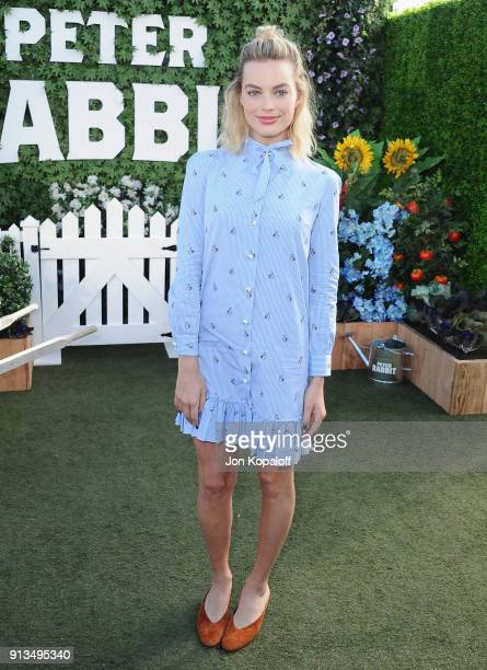 Margot Robbie attends the photo call for Columbia Pictures' Peter Rabbit at The London Hotel on February 2 2018 in West Hollywood California