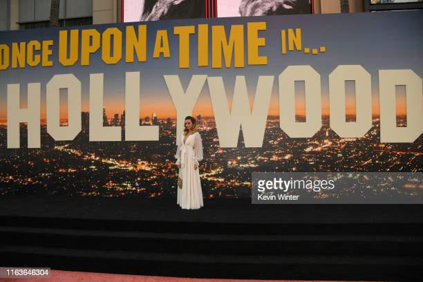 Margot Robbie attends the Sony Pictures' Once Upon A TimeIn Hollywood Los Angeles Premiere on July 22 2019 in Hollywood California