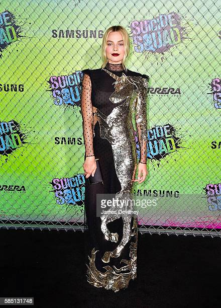 """Margot Robbie attends the """"Suicide Squad"""" premiere at The Beacon Theatre on August 1, 2016 in New York City."""