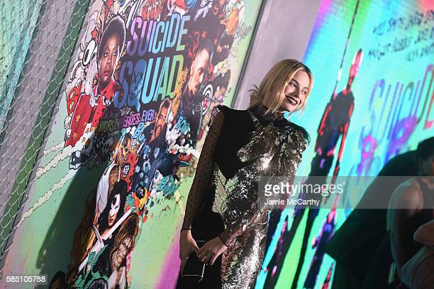 """Margot Robbie attends the """"Suicide Squad"""" World Premiere at The Beacon Theatre on August 1, 2016 in New York City."""