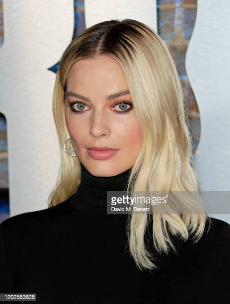 Margot Robbie attends the UK Photocall for Birds Of Prey at Harley Quinn's PopUp Roller Disco at The Steel Yard on January 28 2020 in London England