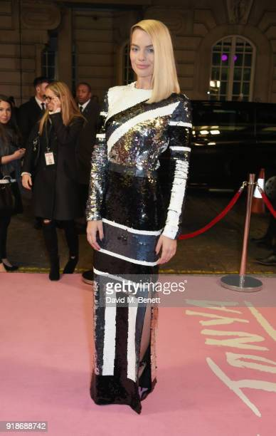 Margot Robbie attends the UK Premiere of I Tonya held at The Curzon Mayfair on February 15 2018 in London England