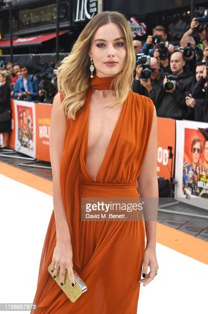 Margot Robbie attends the UK Premiere of Once Upon a TimeIn Hollywood at the Odeon Luxe Leicester Square on July 30 2019 in London England