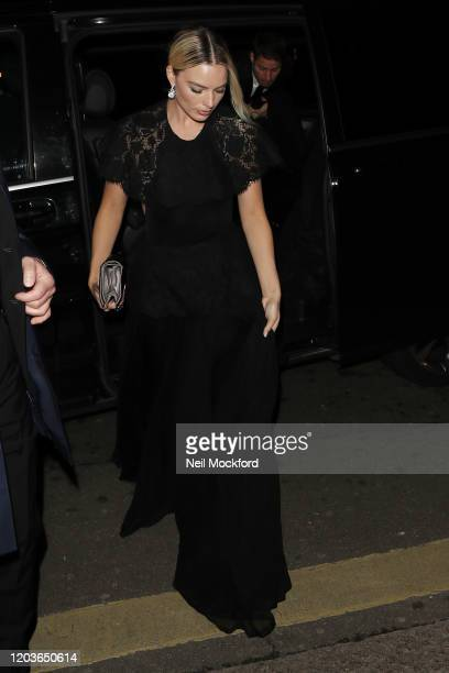 Margot Robbie attends the Vogue x Tiffany Fashion Film after party for the EE British Academy Film Awards 2020 at Annabel's on February 02 2020 in...