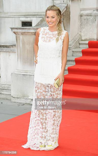 Margot Robbie attends the World Premiere of 'About Time' at Somerset House on August 8 2013 in London England