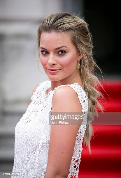 Margot Robbie attends the world premiere of 'About Time' at Somerset House on August 8, 2013 in London, England.