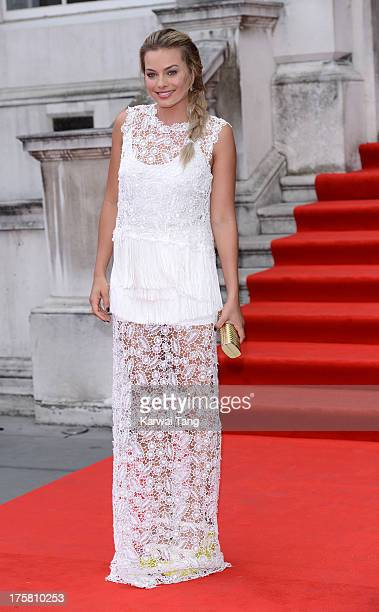 Margot Robbie attends the world premiere of 'About Time' held at Somerset House on August 8 2013 in London England
