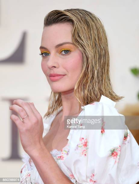 Margot Robbie attends the World Premiere of 'Goodbye Christopher Robin' at Odeon Leicester Square on September 20 2017 in London England