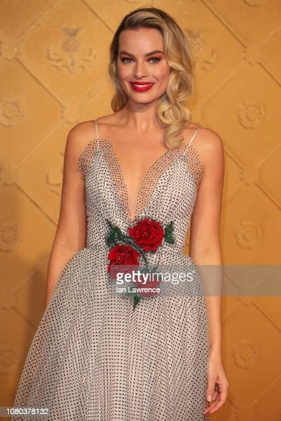 Margot Robbie attends the World Premiere of Mary Queen of Scots at Cineworld Leicester Square on December 10 2018 in London England