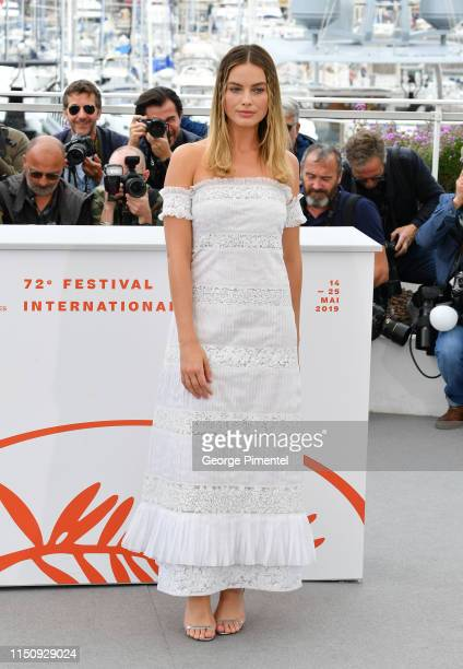 Margot Robbie attends thephotocall for Once Upon A Time In Hollywood during the 72nd annual Cannes Film Festival on May 22 2019 in Cannes France