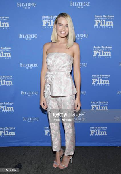Margot Robbie celebrates with Belvedere Vodka at The Santa Barbara International Film Festival at Arlington Theatre on February 8 2018 in Santa...