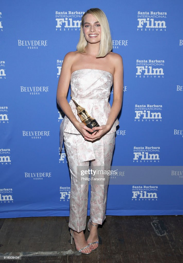 Margot Robbie celebrates with Belvedere Vodka at The Santa Barbara International Film Festival at Arlington Theatre on February 8, 2018 in Santa Barbara, California.