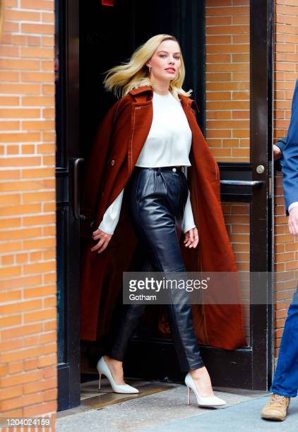 Margot Robbie departs The View on February 04, 2020 in New York City.
