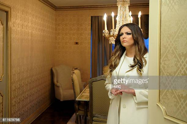 LIVE Margot Robbie Episode 1705 Pictured Cecily Strong as Melania Trump during the Melania Moments sketch on October 1 2016