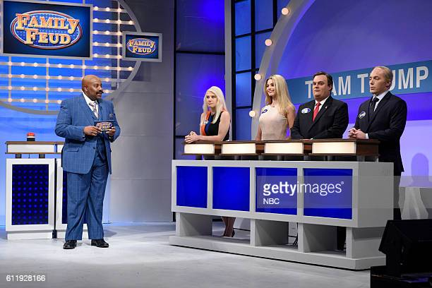 LIVE Margot Robbie Episode 1705 Pictured Kenan Thompson as Steve Harvey Kate McKinnon as Kellyanne Conway Margot Robbie as Ivanka Trump Bobby...