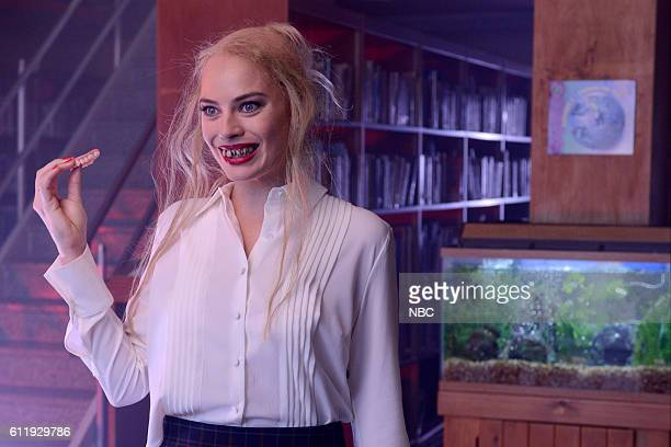 LIVE 'Margot Robbie' Episode 1705 Pictured Margot Robbie as Ms Dalton during 'The Librarian' sketch on October 1 2016
