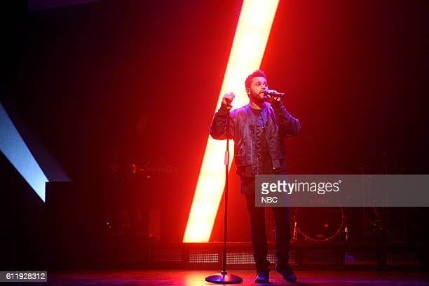 LIVE Margot Robbie Episode 1705 Pictured Musical Guest The Weeknd performs on October 1 2016
