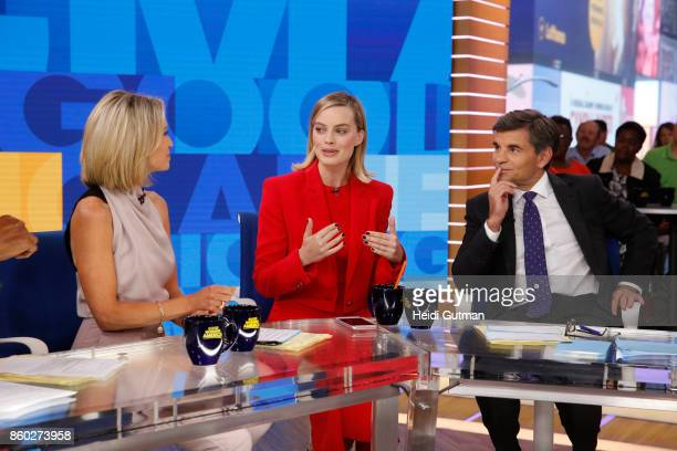 AMERICA Margot Robbie is a guest on Good Morning America on Wednesday October 11 airing on the Walt Disney Television via Getty Images Television...