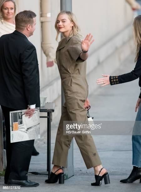 Margot Robbie is seen at 'Jimmy Kimmel Live' on December 04 2017 in Los Angeles California