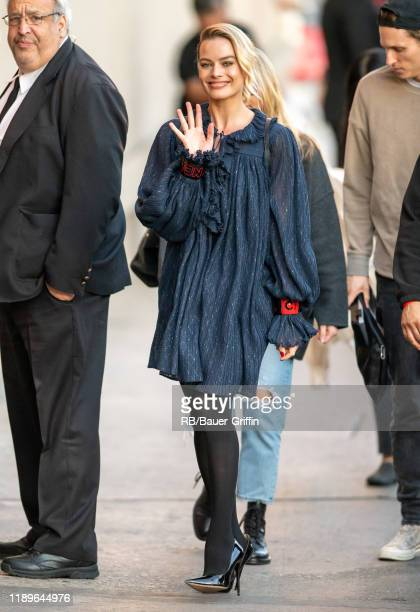 Margot Robbie is seen at 'Jimmy Kimmel Live' on December 19, 2019 in Los Angeles, California.