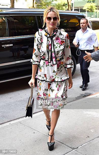 Margot Robbie is seen in Tribeca on July 28 2016 in New York City
